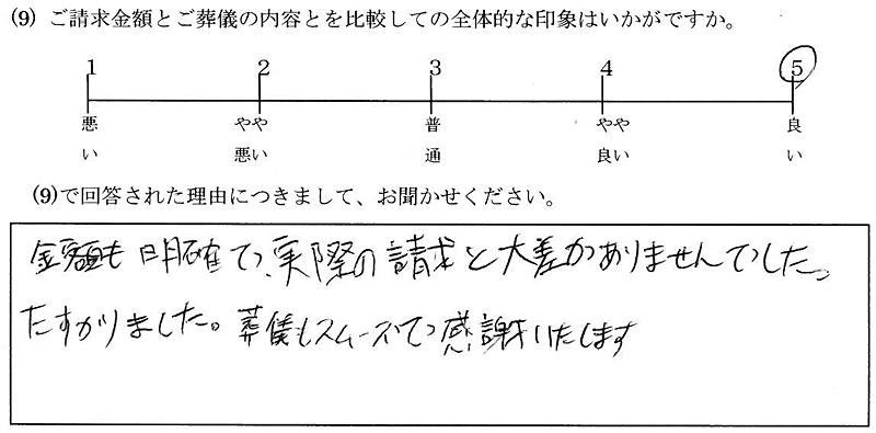 お客様の声13:東京・男性