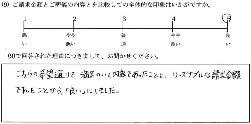 お客様の声13:神奈川・女性