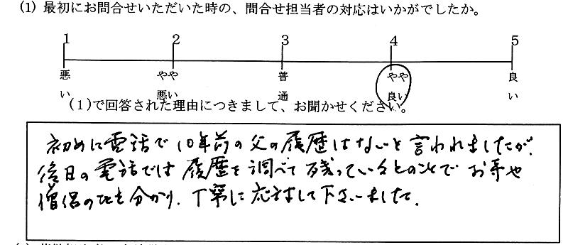 お客様の声05:東京・女性