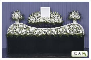 生花祭壇C(ホワイト)